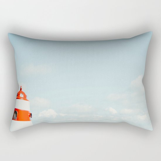 Red White Lighthouse Rectangular Pillow