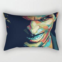 Joker Pop Art Portrait Rectangular Pillow