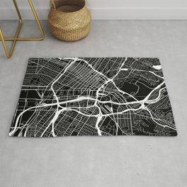 Street MAP Los Angeles // Black&White Rug