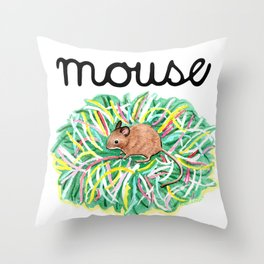 Theatre Mouse Throw Pillow