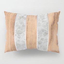 Striped Wood Grain Design - Concrete #347 Pillow Sham