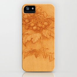 Floral art - Leonardo Da Vinci iPhone Case