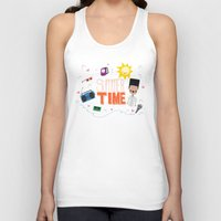 old school Tank Tops featuring OLD SCHOOL!  by Claudia Ramos Designs