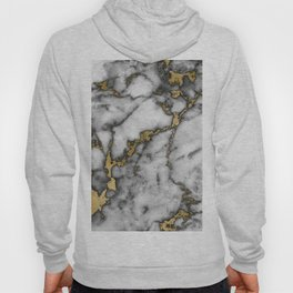 Faux marble Stone Gray Tones Gold Accent Hoody