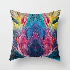Bird Flower Throw Pillow
