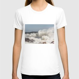 Huge waves on the backshore T-shirt