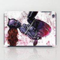 bondage iPad Cases featuring Bondage Catwoman by lucille umali