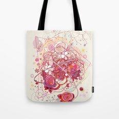 Floral universe orbit Tote Bag