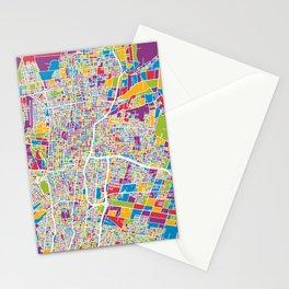 Mendoza Argentina City Street Map Stationery Cards
