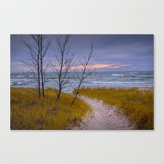 Sunset Photograph of a Trail to the Beach No 0028 Canvas Print