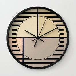 Toned Down - line graphic Wall Clock