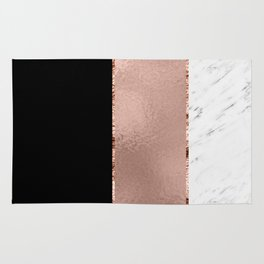 Rose metallic striping - marble and onyx Rug