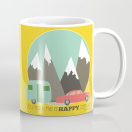 You Make Me a Happy Camper Coffee Mug