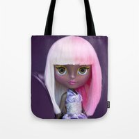 nicki Tote Bags featuring ERREGIRO CUSTOM BLYTHE DOLL NICKI by Erregiro