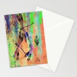 Mauritius Vintage Dragonflies Colours C Stationery Cards
