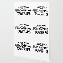 Taking Naps Camping Camper Funny Wallpaper