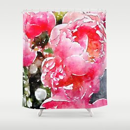 Painted Roses Shower Curtain