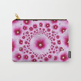 GEOMETRIC FUCHSIA-PINK HOLLYHOCK  PATTERNS Carry-All Pouch
