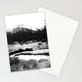 Snow on the hills Stationery Cards