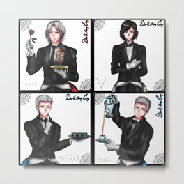 Devil May Cry (Cafe) Metal Print
