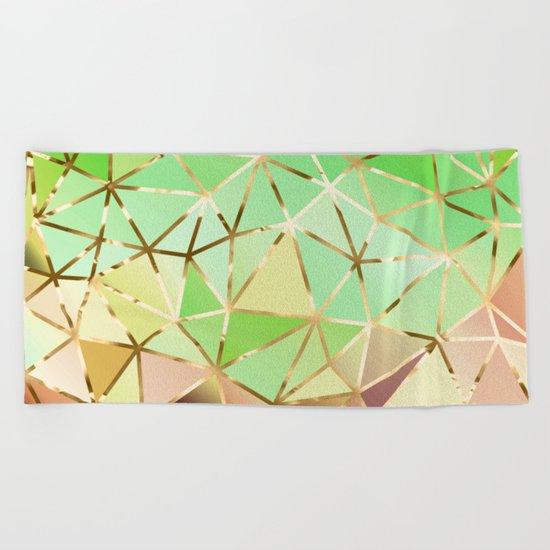 Rainbow Geometric Pattern #1 Beach Towel