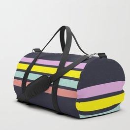 80s Retro Stripes Duffle Bag