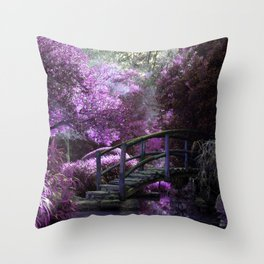 Tea Garden Throw Pillow