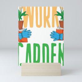 Reader Bookworm Work Garden Read Books Reading Gift Mini Art Print