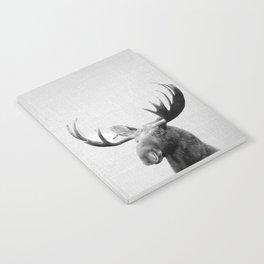 Moose - Black & White Notebook