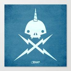 Yeticorn Skull & Bolts Canvas Print