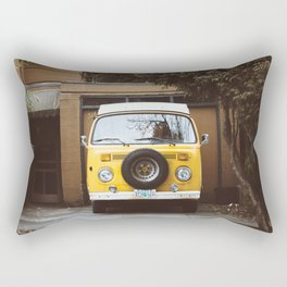 Yellow Van Ready For Road Rectangular Pillow