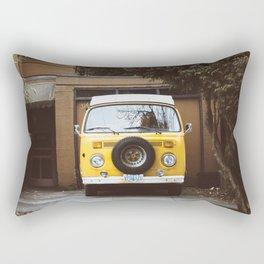Yellow Van Ready For Road Rectangular Pillow