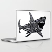 jaws Laptop & iPad Skins featuring Jaws by Lauren Moore