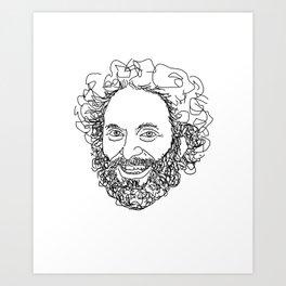 Jason Mantzoukas Art Print