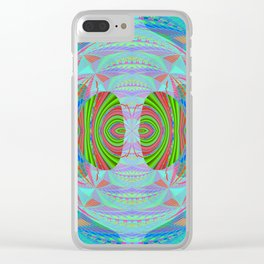 African Print Inspired Geometric Trip Clear iPhone Case