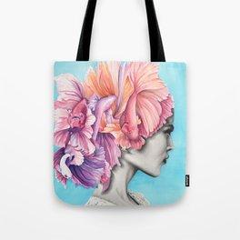 Betta Fish Artwork Tote Bag
