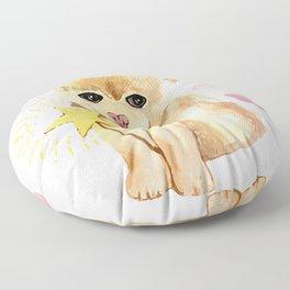 spitz sweet do with pink rainbow Floor Pillow