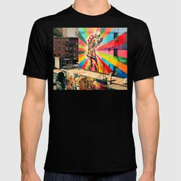 Street Art Mural, Times Square Kiss Recreation T-shirt