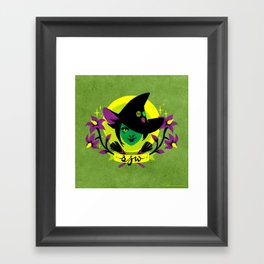 Social Justice Witch Framed Art Print