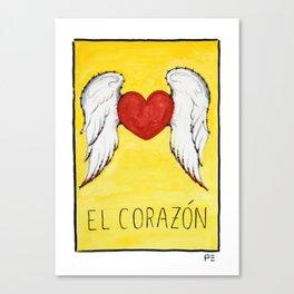 El Corazón Canvas Print