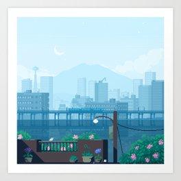 Seattle Morning Art Print