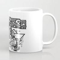 pirate Mugs featuring Pirate by María Nikólskaya