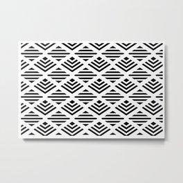 LUNA DIAMOND BLCK AND WHITE BY SUBGRL Metal Print