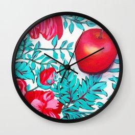 rosy apple Wall Clock