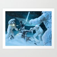 Art Print featuring Han Solo - The Longest Night by jcalum2012