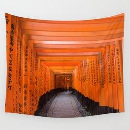 Japan Travel Photo - Fushimi Inari Shrine Wall Tapestry
