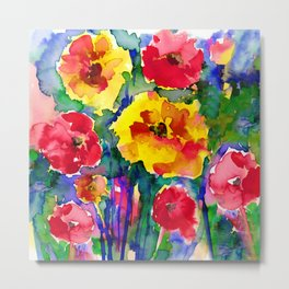 Floral Enchantment No.17B by Kathy Morton Stanion Metal Print