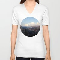 yosemite V-neck T-shirts featuring Yosemite by Leah Flores