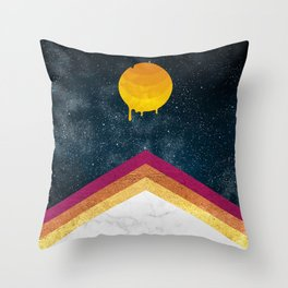 004 - Melting Moon drops Throw Pillow