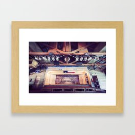 Gruene Hall stage (interior) - Oldest Dance Hall in Texas (Color) Framed Art Print